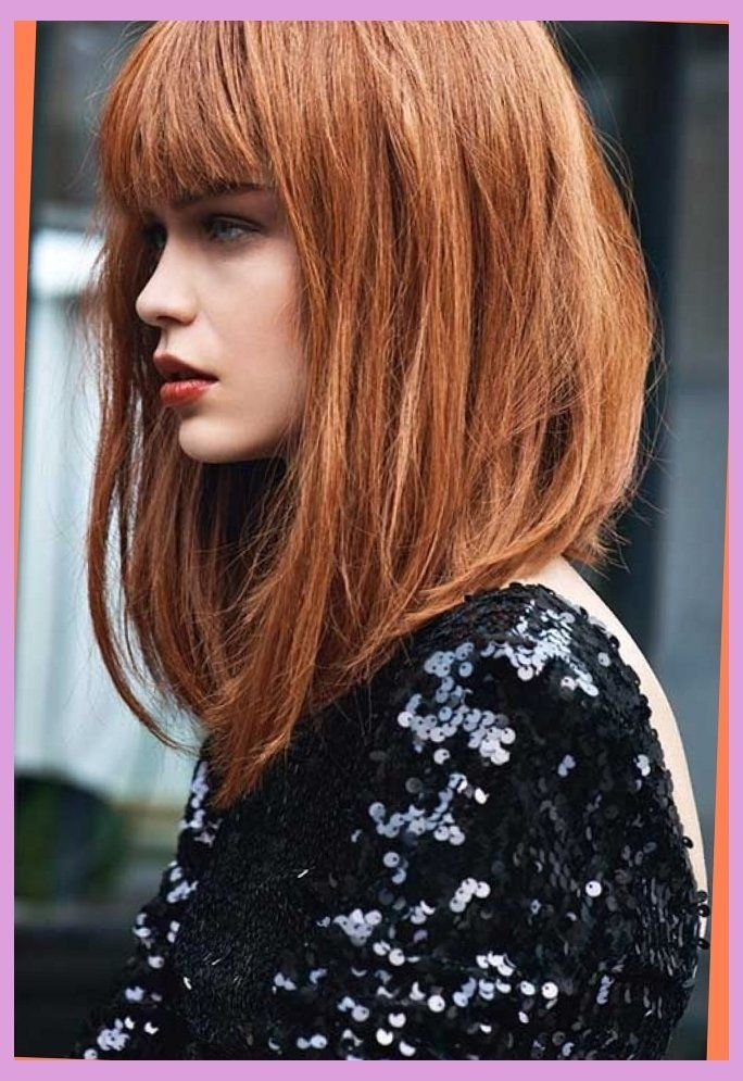 Image Result For Long Angled Bob With Bangs Hairstyles Pinterest