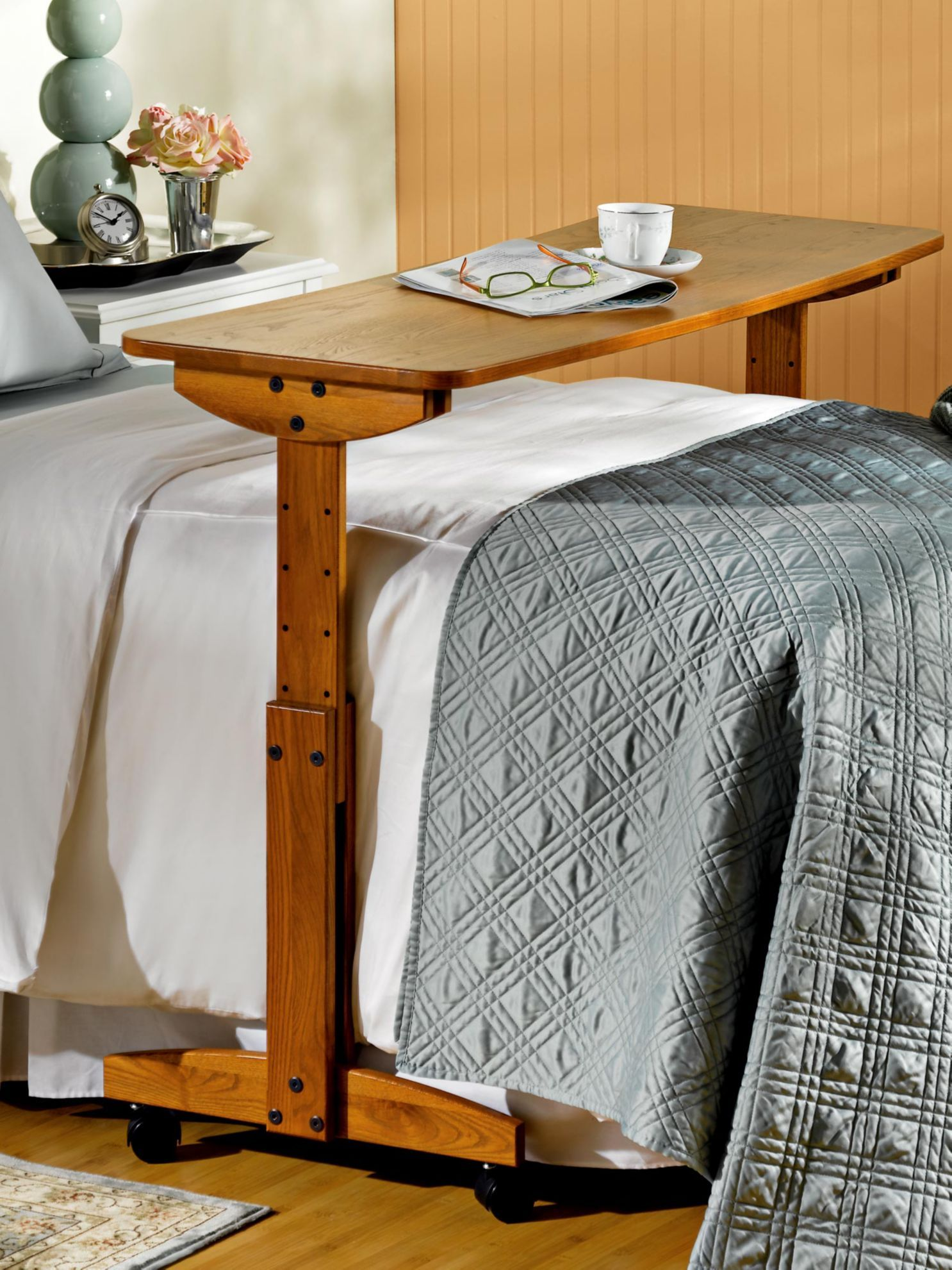 48 in. Rolling OverBed Table Bed table, Cheap living