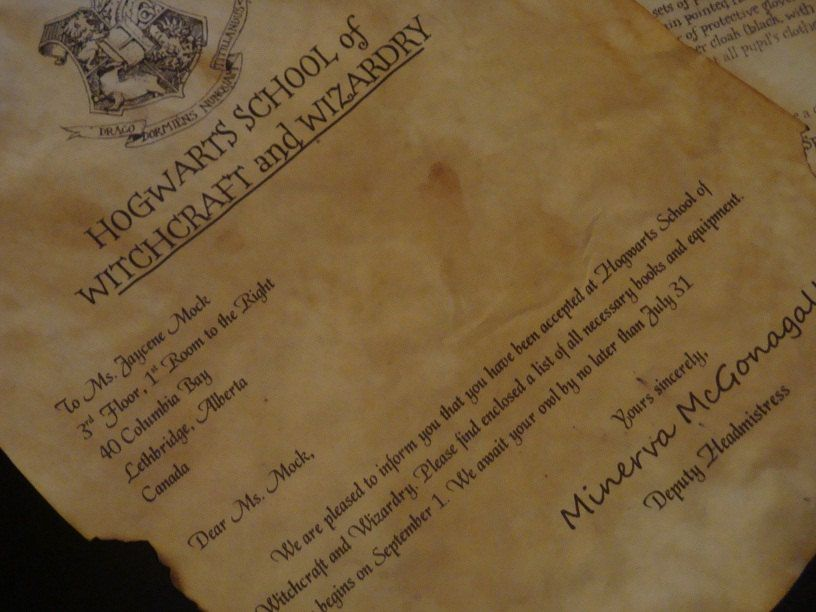 Customizable Harry Potter Acceptance Letter With Hogwarts Express