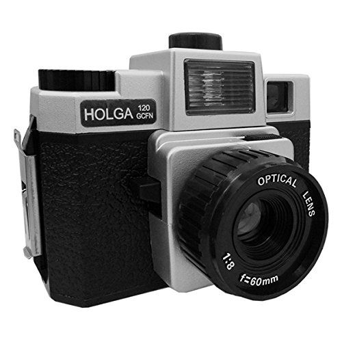 Holga 120 GCFN Medium Format Film Plastic Camera Glass Lens Flash Lomo Silver/Black Holga