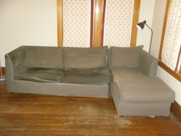 CURB ALERT! Grey hide-a-bed couch and Chaise