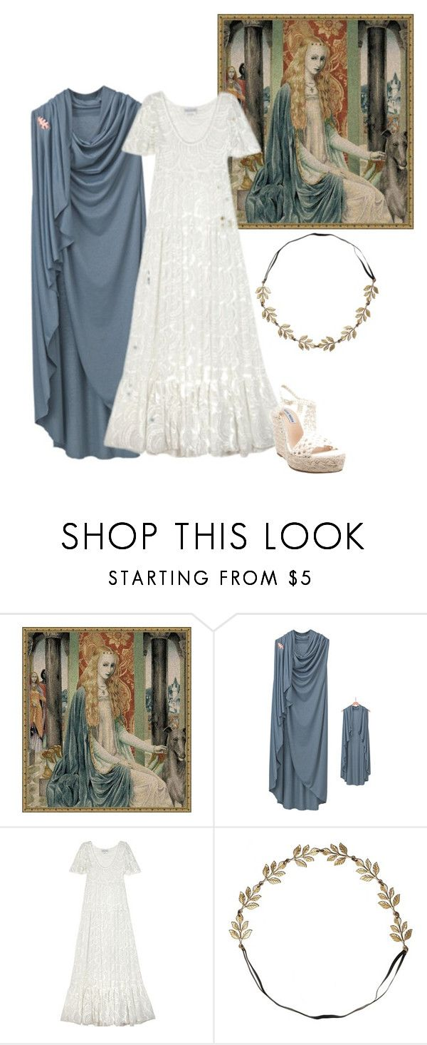 """""""Lady Owein"""" by annette-heathen ❤ liked on Polyvore featuring WALL, ODYLYNE, Eddera and Steve Madden"""