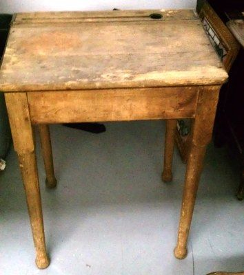 Antique Wooden Desk With Inkwell Antiquedesk Antique Wooden Desk Wooden Desk Traditional Furniture
