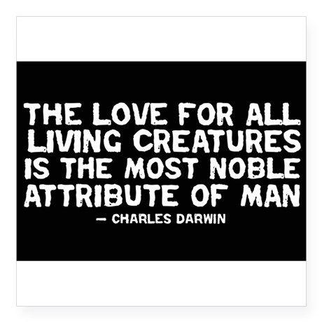 Love of All Creatures - Darwi Rectangle Sticker on CafePress.com