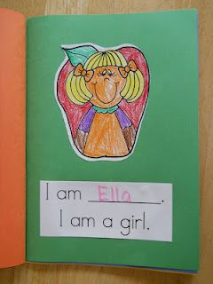 Mrs. Greene's Kindergarten Korner: Publishing Class Books, Are You a Girl or a Boy?