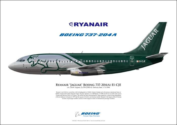 Ryanair Boeing 737-204A EI-CJE c/n 22639 -  Nice Ad for the Ryan Air -204 in an unknown mag.