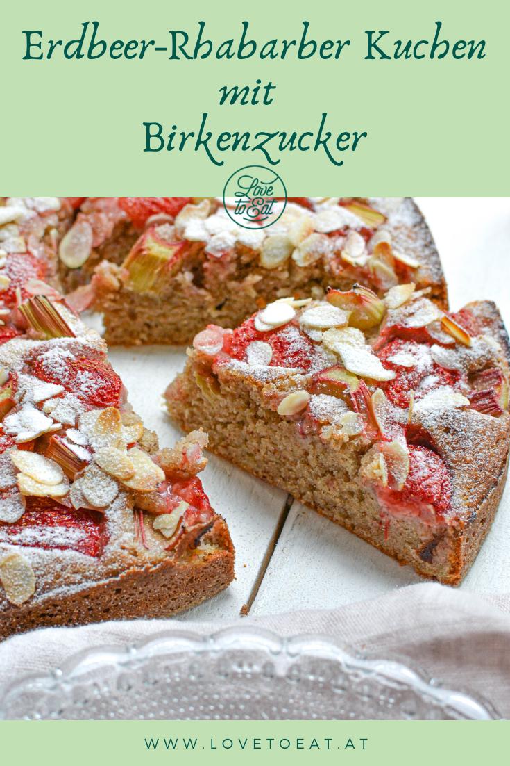 Erdbeer Rhabarber Mandelkuchen Rezept In 2020 Rezepte Erdbeer Rhabarber Lecker