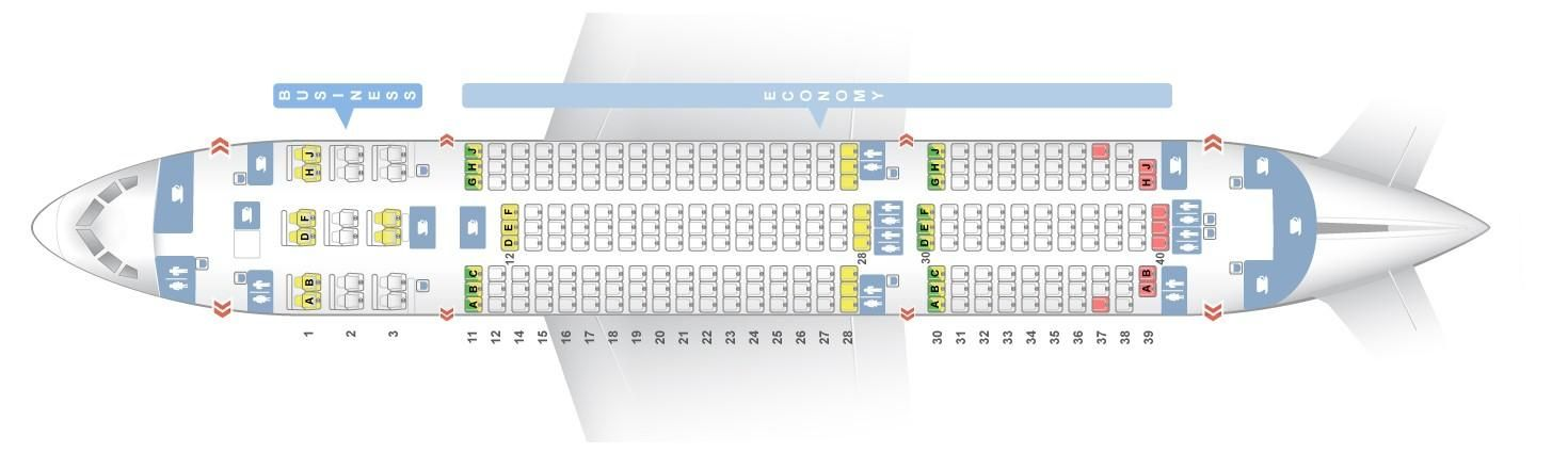 Seat Map And Seating Chart Boeing 787 8 Dreamliner Air India Air India Boeing 787 Boeing