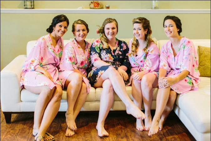 matching bridesmaid robes - jeune amour blog/ erin mcginn photography