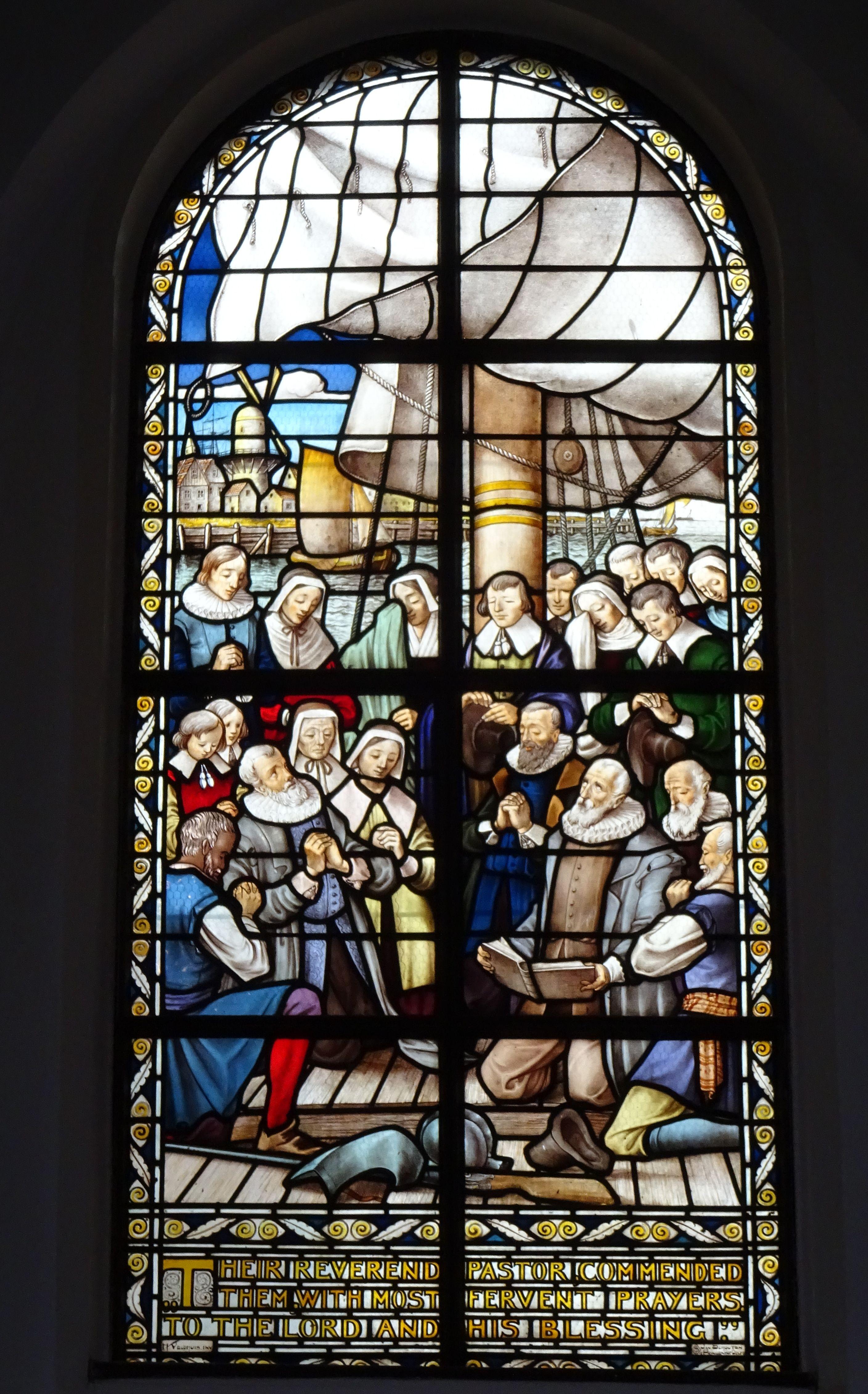 Glas In Lood Engels.Amsterdam Engels Hervormde Kerk Begijnhof Het Enige