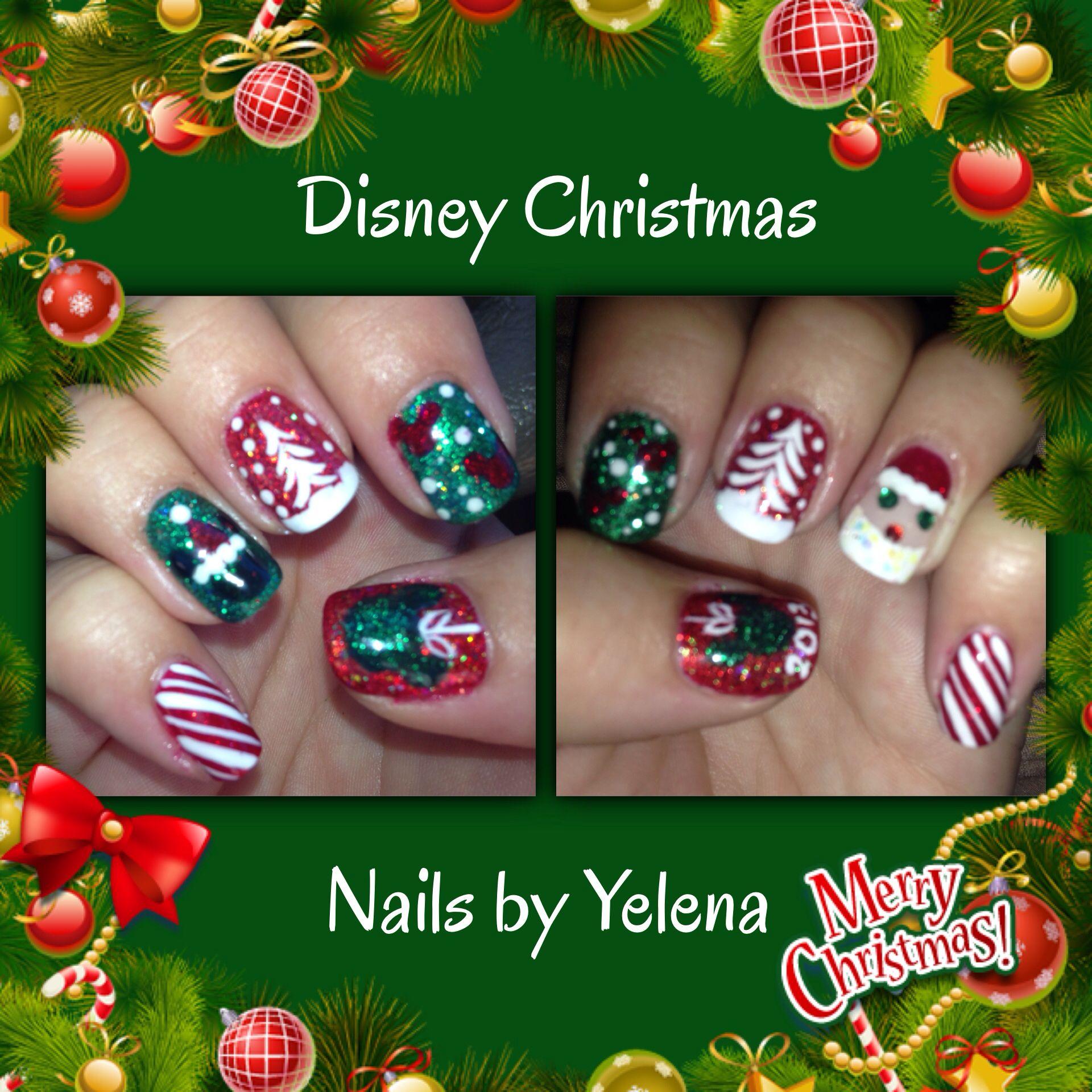 Disney Christmas nails by Yelena | Disney nails | Pinterest ...