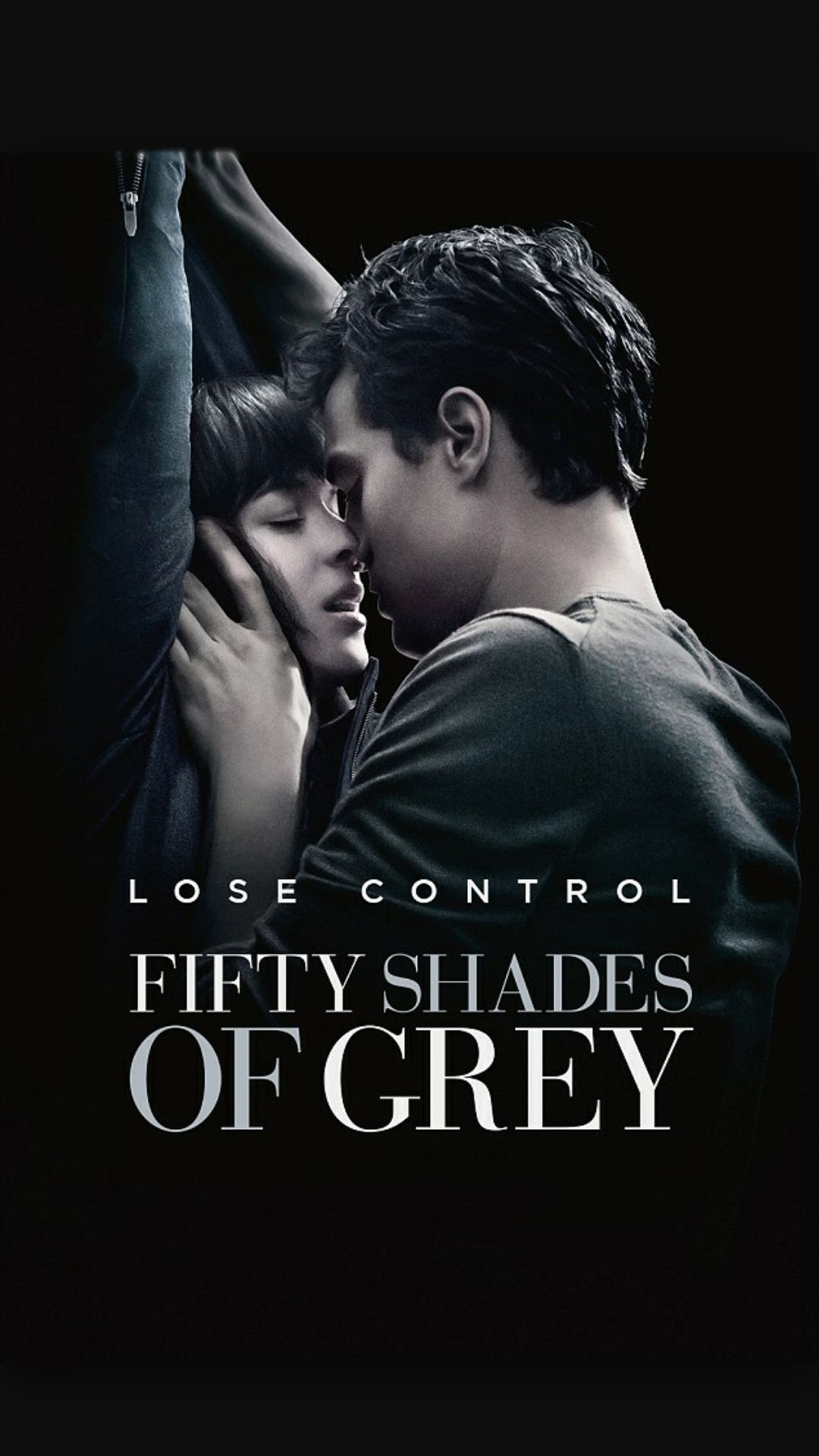 ↑↑TAP AND GET THE FREE APP! Movies Fifty Shades Of Grey Lose Control  Christian Grey Anastasia Steele Black Girly Poster Blockbuster BDSM Kiss  Romantic ...