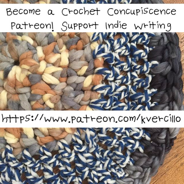 If you believe in the work of Crochet Concupiscence, consider supporting through Patreon. This helps me to keep sharing the world of #crochet, connecting crafters to one another and writing about the #health benefits of the #craft. PS - Don't worry. I don't plan to spam the boards by posting this more than once on any board. Just wanted to make people aware if it's of interest to them. <3