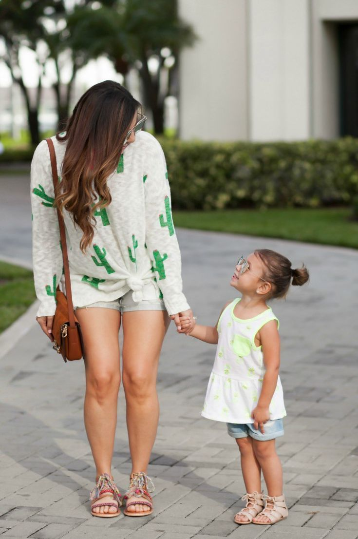 Mommy And Me Summer Photoshoot Coordinated Outfits