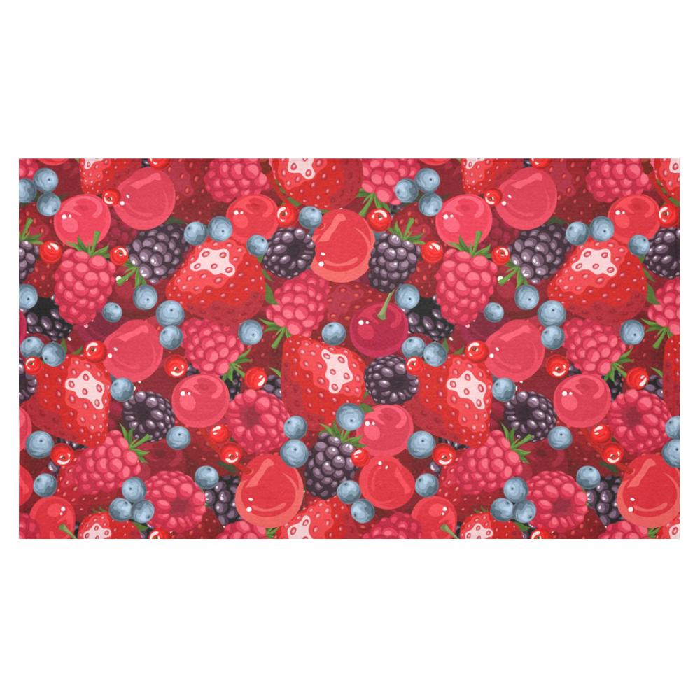 Strawberry Raspberry Blueberry Cranberry Fruit Cotton Linen Tablecloth 60