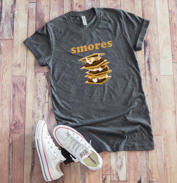 8d4ce4c5f7d0 Smores Shirt, Camping T-shirt, Funny Smores Gift, Campfire Tee, Outdoors  Shirt, Marshmallow, Chocola