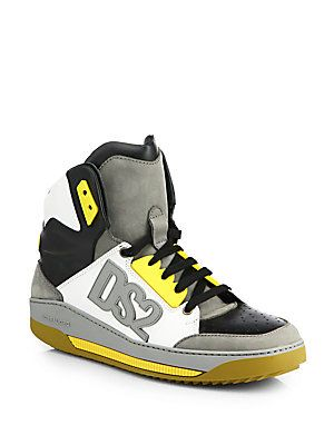 DSQUARED - DS2 Logo High-Top Sneakers