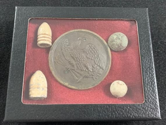 Authentic US Civil War Soldier Accoutrement Plate With US Eagle Motif
