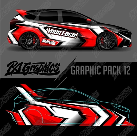 Ra Graphic Pack 12 Car Wrap Design Car Graphics Car Wrap