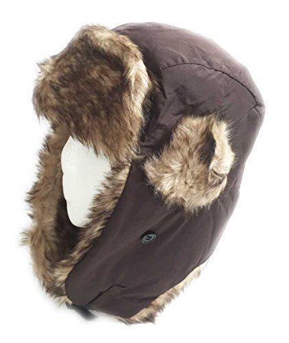Aesthetinc Faux Fur Fashion Aviator Winter Hat Faux fur fashion aviator hat.  Ear flaps on 21e82bdf971