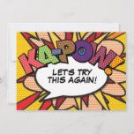 KAPOW Postponed Change of Date Comic Book Pop Art Save The Date #baptism #christening #wedding #handmade #communion #baby #love #party #babyshower #events #cake #babygirl #christeningday #birthday #photography #firstcommunion #event #church #babyboy #jesus #christeningcandle #bible #personalised #god #baptismdecor #toronto #family #weddings #follow #bhfyp #souvenirs #faith #blessed #bridalshower #birthdays #battesimo #cupcakes #eventplanning #cakepops #christeningset #christeningbox #chocolate #