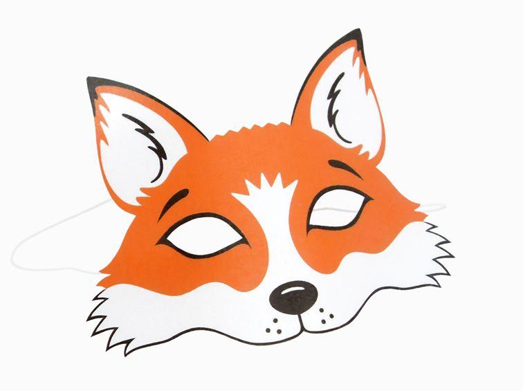 Pin Von Innas Basteleien Auf Masken Basteln Fuchs Maske
