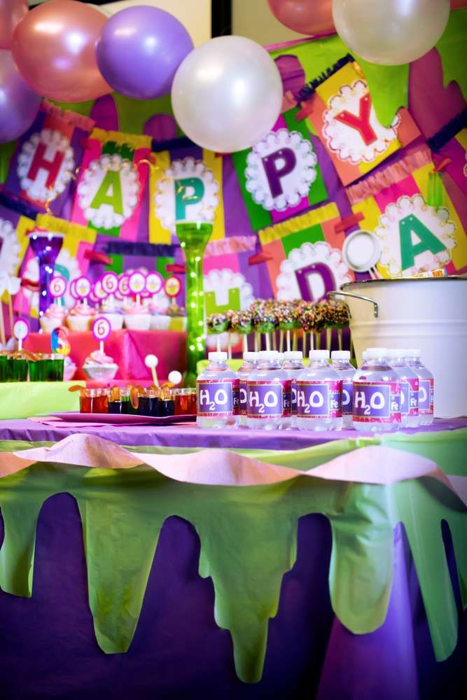 Pink Purple Green Birthday Party Ideas In 2019 Science Party