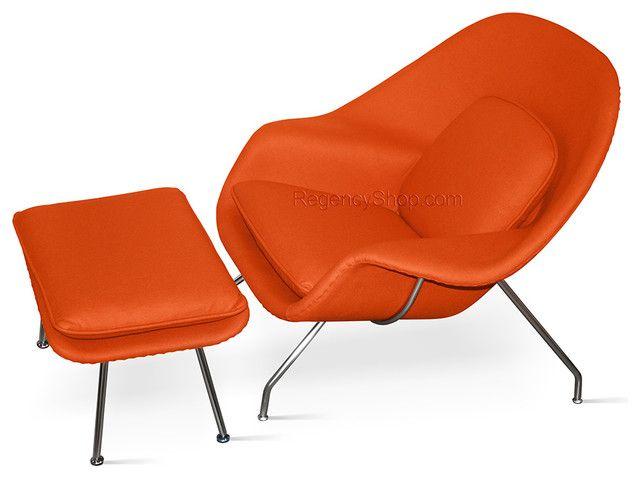 Womb Chair U0026 Ottoman U2013 Burnt Orange U2013 Modern U2013 Armchairs And ..