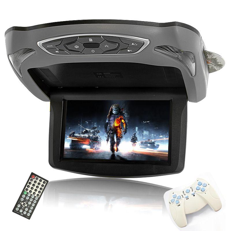 13 3 Inch Flip Down Tft Lcd Roof Mount Monitor For Car Dvd Divx 1280x800 Tir C162 Highlights 13 Headrest Dvd Player Fm Transmitters Dvd Player