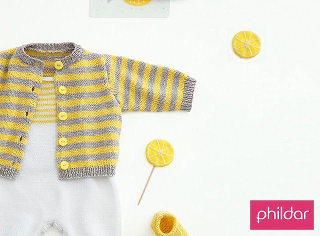 e079d6cf5 Opera Baby Cardigan Striped Free Knit Pattern