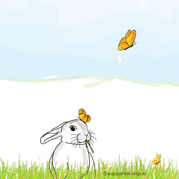 Geschutztes Blog Anmelden Osterhase Illustration Ostern