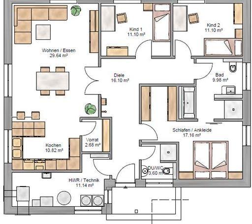 Bungalow 123 Floorplan 1