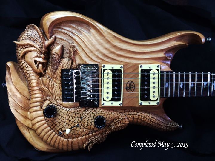 dragon wizard iii hand carved functional electric geetars in 2019 guitar guitar parts