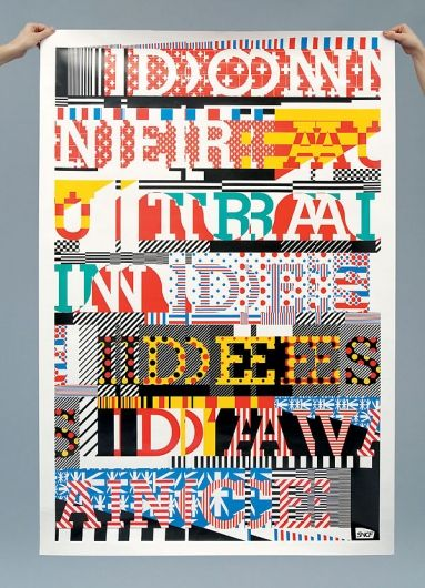 Deconstructed Type Typographic Layout Graphic Design Collection Graphic Poster