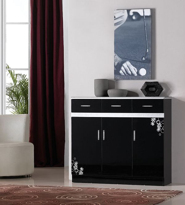 Black Shoe Cabinet Design Idea