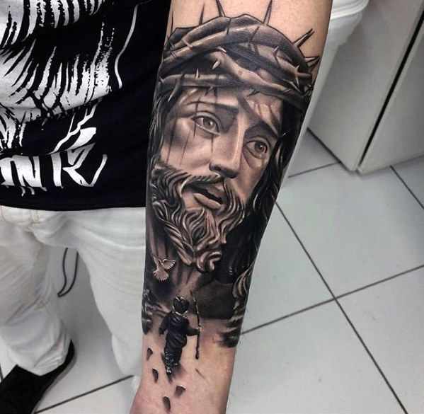 Pin By Albano R On Wallpaper Jesus Tattoo