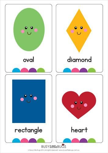 Amazing image in printable shapes flashcards