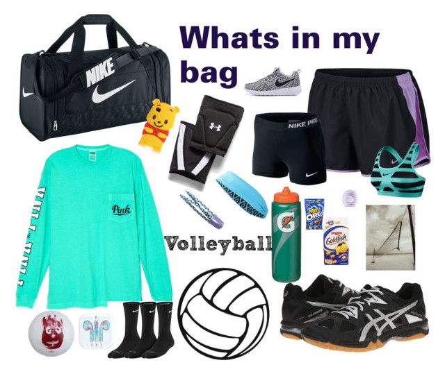 Whats In My Volleyball Bag By Precious Will On Polyvore Featuring Nike Victoria S Secret Under Armour Asics Eos And Tasc Performance