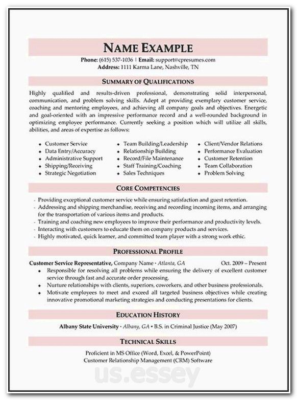 core competencies research sample resume