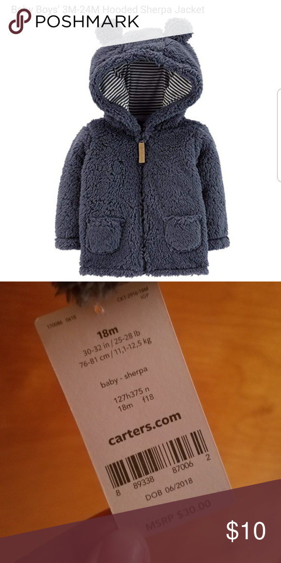 7c75f4fbc Carter s Hooded Sherpa Jacket This soft and fuzzy Sherpa jacket from ...