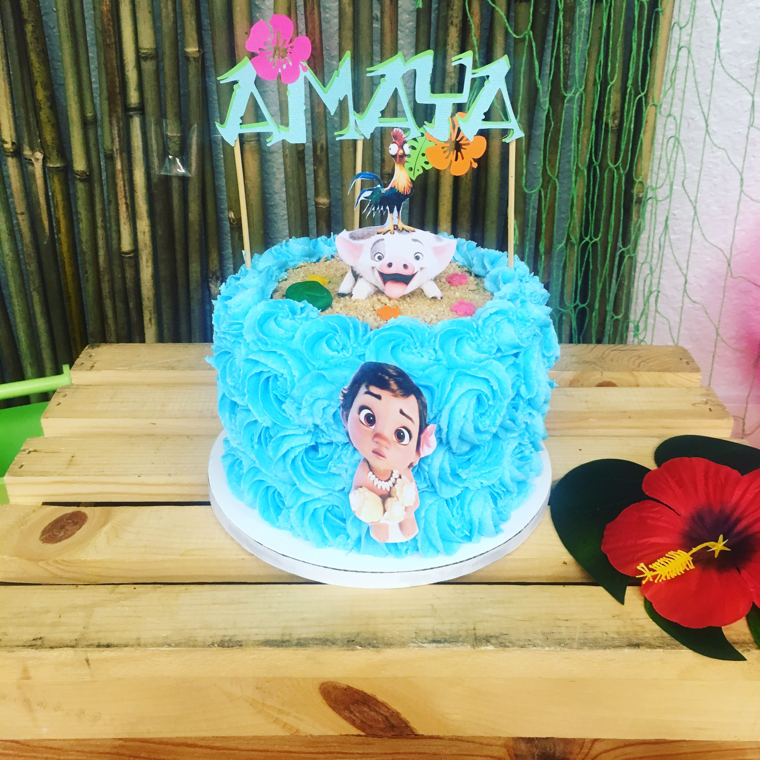 Moana Theme 1st Birthday Smash Cake