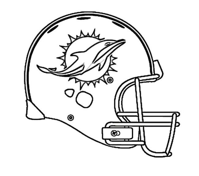 Football Helmet Coloring Pages Sports Rhpinterest: Coloring Pages Miami Dolphins At Baymontmadison.com