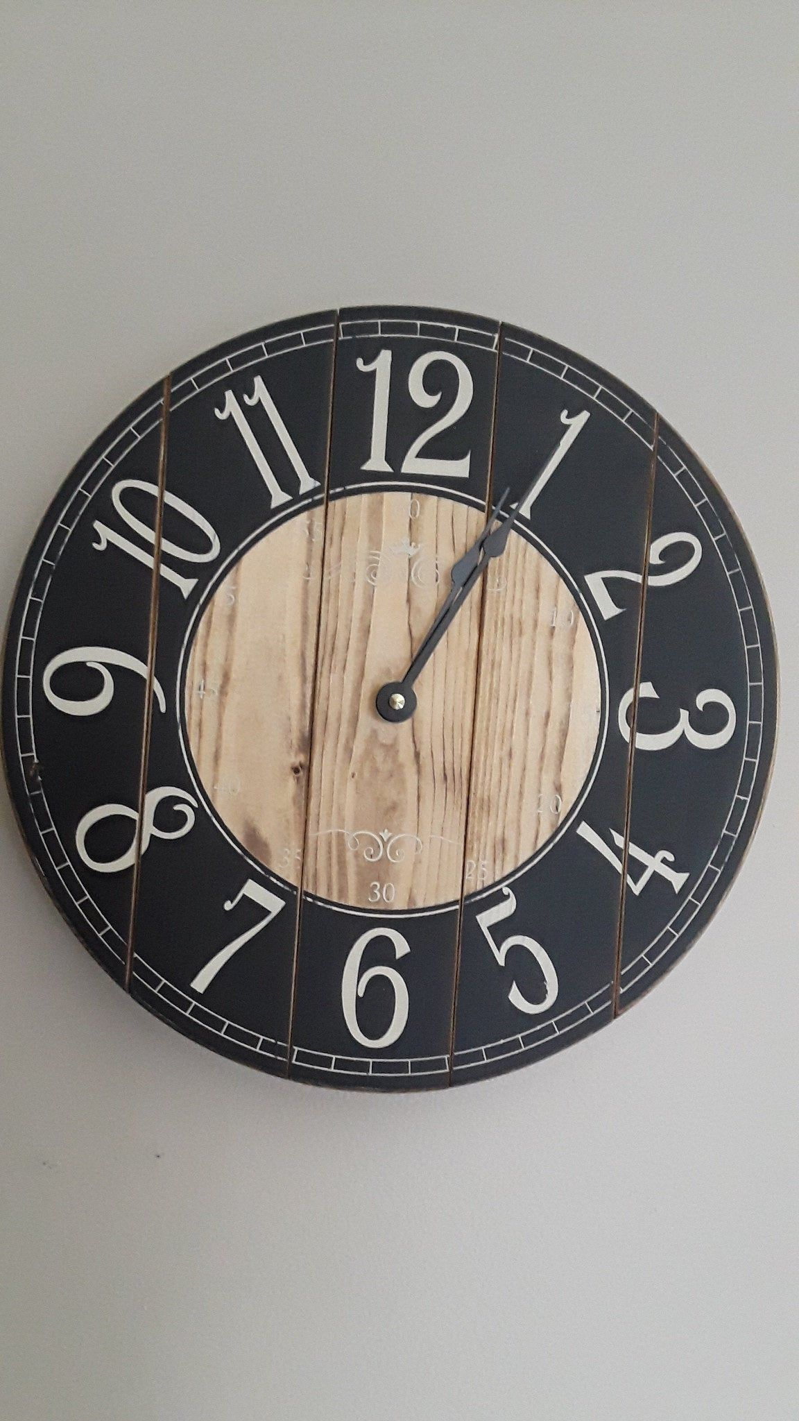 12 Inch Farmhouse Clock Small Rustic Wall Clock Unique Etsy Small Wall Clock Rustic Wall Clocks Wall Clock