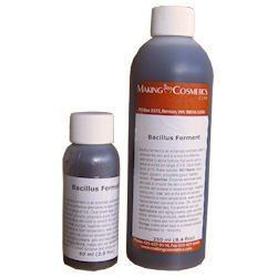 Bacillus Ferment - 8.4floz / 250ml by MakingCosmetics Inc.. $106.90. Note: Item is Non-Returnable, Consists of Raw Materials. Natural Enzymes for Non-Mechanical Exfoliation. Description: Bacillus ferment is an enzymatic exfoliant used to exfoliate the skin and is a mild but effective alternative to alpha hydroxy fruit acids and is active at a mild pH range of 5-8. Clear brown liquid, pH 6. Water-soluble. CAS# 9014-01-1. INCI Name: Aqua (water), glycerin, propylene glycol, ...