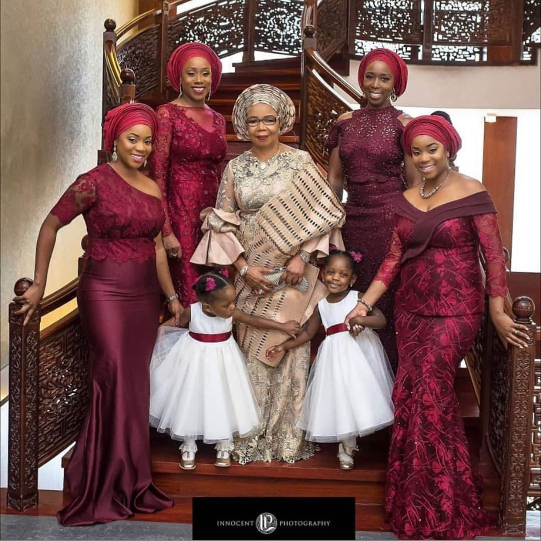 Grandma And Her Girls Asoebi Styles African Women Bridesmaid Dresses [ 1080 x 1080 Pixel ]