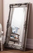 Ornate Silver Full Length Vintage Antique Style Large Floor Wood Frame Mirror For Our Home Silver Wall Mirror Rustic Wall Mirrors