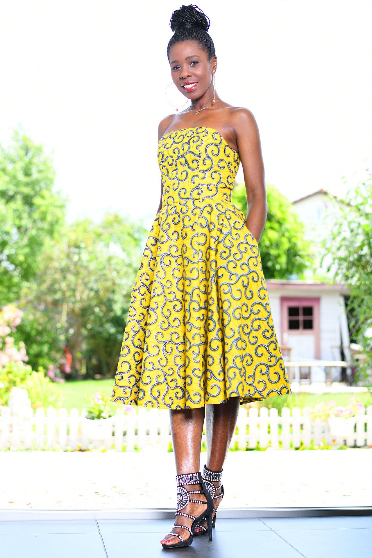 Afrikanisches Kleid Iskara in 2020   Afrikanische kleider ...