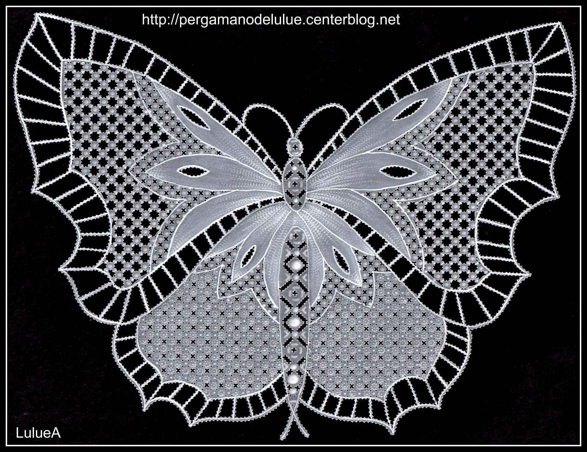 Pergamano butterfly pergamano pinterest tags - Modeles gratuits de grilles de dentelles aux fuseaux ...