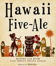 This blonde ale base beer is transformed into a tropical beer with over 100 pounds of five fruits, including peach, pineapple, mango, strawberry, and blueberry, giving you the feeling of being on a Hawaiian beach.