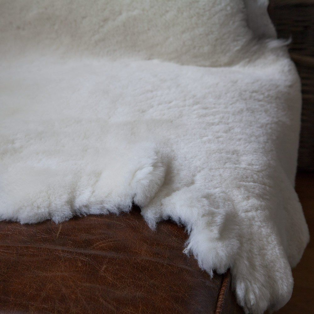 This #SheepskinThrows #deals are Australian imported one in natural white colour also are undyed. It is not trimmed around its edges which gives it a rugged, untamed, Scandinavian look. It is a better deal to bring instant warmth and comfort to colder seating, such as leather. The fleece of such a deal has been sheared down to 25mm and is therefore dense and extremely soft to the touch.